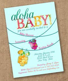 Tropical Onsie Luau Baby Shower Invite - Printable. $15.00, via Etsy.