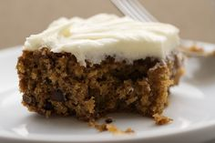 Oats, chocolate, and cream cheese make this Oatmeal Chocolate Chip Cake absolutely delicious!
