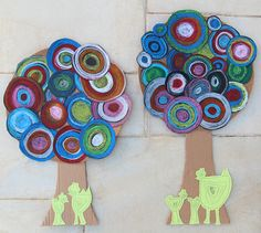 Tree Art With Pastel Circles