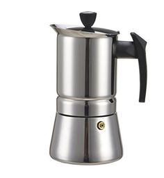 Generic 100 ML 2 Cup Stainless Steel Moka Stovetop Espresso Maker Latte Percolator Stove Top Coffee Maker Pot For Use On Gas Electric And Ceramic Cooktops * See this great product.Note:It is affiliate link to Amazon.