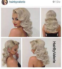 Image result for hair down vintage curl