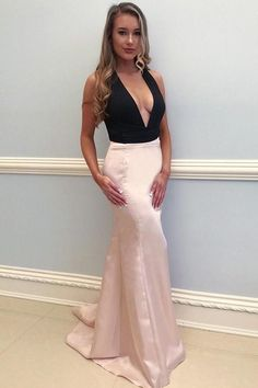 Custom Made Great Black Mermaid Prom Dresses Sexy Deep V Neck Black And Blush Mermaid Long Prom Dress Blush Prom Dress, Prom Dress, Sexy Prom Dress, Long Prom Dress, V-neck Prom Dress Prom Dresses 2019 Pageant Dresses For Teens, V Neck Prom Dresses, Best Prom Dresses, Pink Prom Dresses, Mermaid Evening Dresses, Cheap Prom Dresses, Evening Gowns, Sexy Dresses, Evening Party