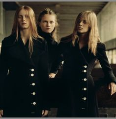 Lexi Boling (in celine) , Julie Hoomans (in fendi) & Rianne Van Rompaey (in celine) by Jamie Hawkesworth for another