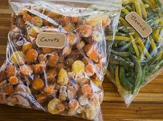 fresh frozen carrots and beans on Sunnymeals.com
