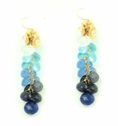Fotini Designs Ombre Earrings with Semi Precious Stones @Martha Stewart Living #americanmade