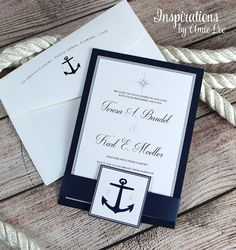 Nautical Invitations Nautical Wedding Navy Invitations