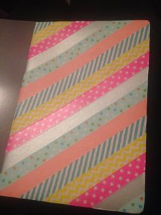 This is my first DIY washi tape note book