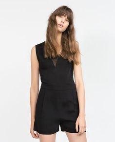 Image 2 of SHORT COMBINED PLUMETIS JUMPSUIT from Zara