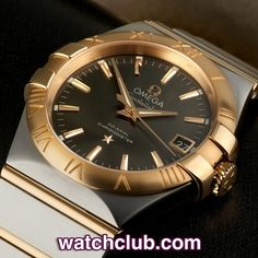 """Omega Constellation Rose Gold & Steel - """"Brand New"""" REF: 12320352006002   Year Aug 2014 - Brand new, unworn and totally complete! This latest model mid-size Omega constellation looks superb in 18ct rose gold & steel, the 'warm grey' dial is accented with rich rose gold applied markers and hands that match the famous Constellation star and Ω logo. Housing the chronometer rated, Co-Axial cal.2500 movement, this automatic dress watch is water resistant to 100m."""