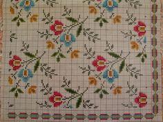 Dmc Cross Stitch, Cross Stitch Borders, Cross Stitch Flowers, Cross Stitch Designs, Cross Stitching, Cross Stitch Embroidery, Cross Stitch Patterns, Seed Bead Flowers, Flower Phone Wallpaper