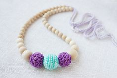 Ecofriendly Teething/ Nursing necklace for by NecklacesForMommy, $18.00