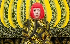 """Yayoi Kusama Telegraph article: """"As a young artist, Yayoi Kusama scandalised Japan with her 'obscene' work. But with a new exhibition opening, she has finally found the recognition she craves; if not inner peace"""" Yayoi Kusama, Frank Stella, Jeff Koons, Alexander Calder, Polka Dot Artist, Banksy, Artist Birthday, Most Popular Artists, Psychedelic Colors"""