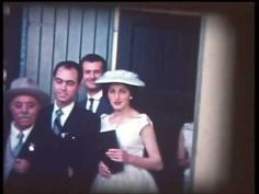 These weddings were shot through the movie camera of John Kallis and his son Emmanuel videotaped them many years later.