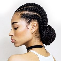 This braided bun is so stunning