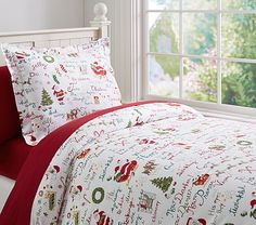 T'was the Night Before Christmas Flannel Duvet Cover #pbkids