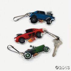 Race Car Belt Clip Key Chains