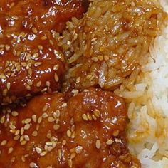 Easy Sweet and Sour Pork Chops. Easy Sweet And Sour Pork Chops With Pork Chops Soy Sauce Chili Sauce Honey Sesame Seeds - Gluten free Recipes Honey Pork Chops, Pork Chops And Rice, Boneless Pork Chops, Baked Pork Chops, Pork Roast, Asian Pork Chops, Teriyaki Pork Chops, Teriyaki Sauce, Sweet And Sour Pork Chop Recipe