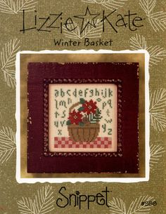 Lizzie Kate: Winter Basket  a Snippet Cross by TheCrossIBare