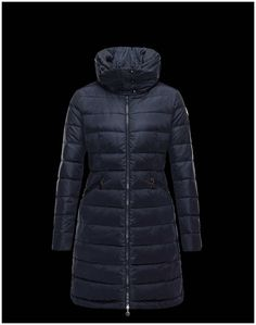 moncler mantel dunkelblau