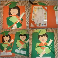 Graduation Crafts, Kindergarten Graduation, Cute Crafts, Crafts To Make, Crafts For Kids, First Day School, End Of School Year, Exam Wishes, Educational Crafts