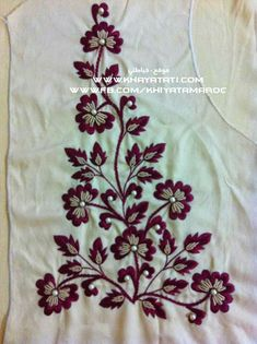 41 Ideas For Embroidery Patterns Free Unique Zardozi Embroidery, Embroidery On Kurtis, Hand Embroidery Videos, Hand Work Embroidery, Embroidery On Clothes, Embroidery Flowers Pattern, Flower Embroidery Designs, Simple Embroidery, Embroidery Patterns Free