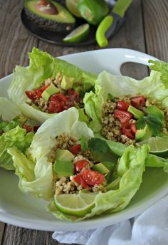 Cilantro-Lime Turkey Taco Lettuce Wraps are lean, gluten free and a quick mid week dinner idea! | mountainmamacooks.com