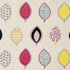 #clarkeandclarke Henrika #design #fabric #interiors #leaves #colour