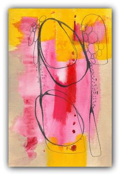 Disown Contemporary Modern Art  an Original Abstract by ChristinaRomeo, $45.00