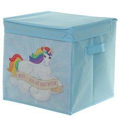 Puckator Children's Foldable Canvas Rainbow Unicorn Storage Box Great For Toys! Storage Boxes, Bag Storage, Storage Chest, Laundry Storage, Box With Lid, Rainbow Unicorn, Storage Solutions, Girls Bedroom, Kids Girls
