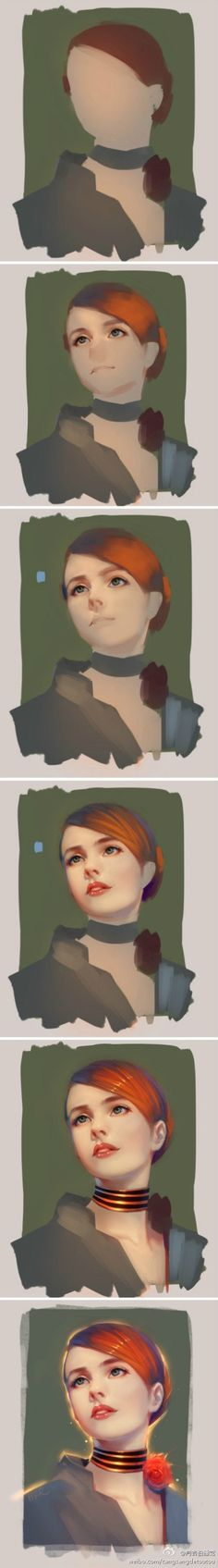 40 Ideas Drawing Portrait Tutorial Step By Step Digital Paintings Digital Painting Tutorials, Digital Art Tutorial, Art Tutorials, Digital Paintings, Drawing Tutorials, Process Art, Painting Process, Painting & Drawing, Drawing Process