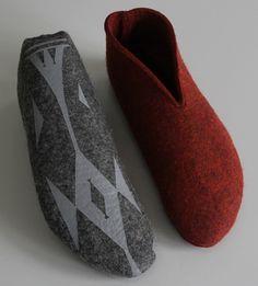 Felt moccassins from 100% wool. Handmade in Kyrgyzstan. Tumar Art Group.
