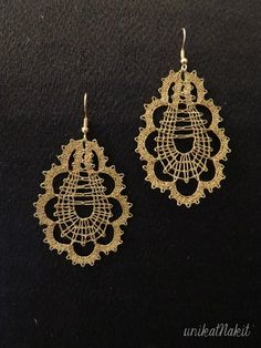 Lace Earrings, Lace Jewelry, Crochet Earrings, Bruges Lace, Lacemaking, Lace Heart, Bobbin Lace, Lace Detail, Tatting