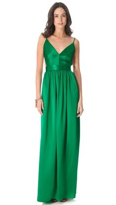 ONE by Contrarian Babs Bibb Maxi Dress. (It's called Emerald... but it may be too kelly green)