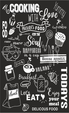 Krijtbord sticker – – Rebel Without Applause Chalkboard Art Kitchen, Chalkboard Art Quotes, Blackboard Art, Chalkboard Lettering, Chalkboard Designs, Hand Lettering, Fireplace Feature Wall, Kitchen Posters, Chalk Wall
