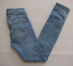 GAP 1969 Legging Jean 24 00 Riot Light Skinny Jegging Slit Hem Stretch Denim '13 #GAP #LeggingsSlimSkinny