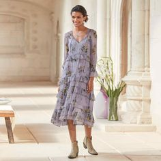 NATALIE FLOUNCE DRESS Simple Long Dress, Hippie Style, My Style, Get Dressed, Floral Prints, Handsome, Summer Dresses, Pretty, Casual