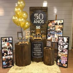 50th Birthday Themes, 50th Birthday Party Decorations, 50th Party, 60th Birthday Party, Graduation Decorations, Adult Party Themes, Man Party, 50th Wedding Anniversary, Papi
