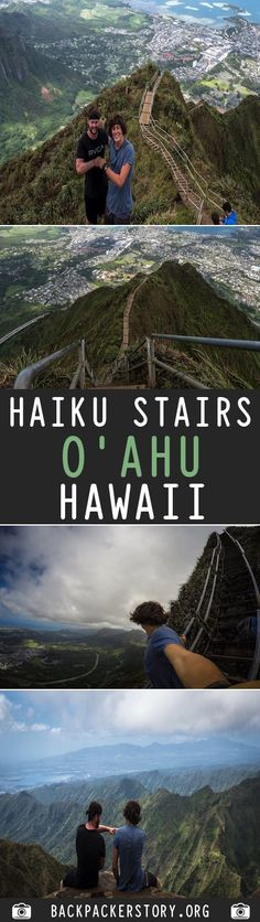 Guide: Haiku Stairs – Stairway to Heaven, Hawa Usa Travel, Hawaii Travel, Stairway To Heaven, Backpacker, Haiku, Stairways, Destinations, To Go, Places To Visit