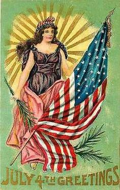 July 4th 1911 Lady Liberty Stars Stripes Flag Antique Vintage Embossed Postcard July 4th 1911 Lady Liberty with American flag. Unused collectible antique vintage gold embossed postcard in very good co  www.electricturtles.com/collections