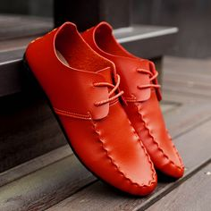 doug Korean young men's leather driving shoes lazy shoes men leather loafers flats shoes
