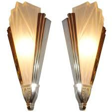 Pair of 1930s Art Deco wall lights
