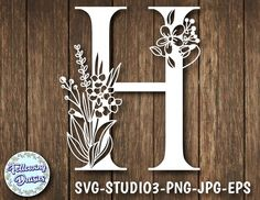 Check out our alphabet svg selection for the very best in unique or custom, handmade pieces from our digital shops. H Monogram, Cricut, Paper Lace, Floral Letters, Apple Wallpaper, Print And Cut, Paint Designs, Vector File, Paper Cutting
