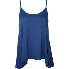 Dalia Strappy Swing Top (€9,79) ❤ liked on Polyvore featuring tops, shirts, tanks, tank tops, royal blue, blue tank top, stretch shirt, summer tank tops, blue shirt and holiday tops