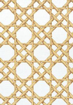 Cyrus Cane by Thibaut Fabrics | Store — FABRIC STUDIO STORE Trellis Wallpaper, Home Wallpaper, Bamboo Trellis, Batik Pattern, Custom Drapes, Gold Fabric, Simple Shapes, Chinoiserie, Printing On Fabric