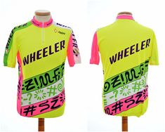 rad 80s CYCLING JERSEY by WHEELER   Nalini   mens size L large   90s neon   short  sleeve T-shirt top   made in Italy. Etsy. vintage ... e0f35dbb8