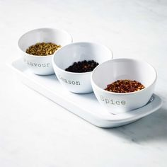 Flavour, season and spice! New mini bowls to display your herbs and spices for spring/summer cooking
