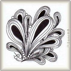 Zentangle-Pattern 'Pais' by Mikee Huber CZT, presented by www. Zentangle Drawings, Doodles Zentangles, Zentangle Patterns, Simple Complex, Zen Art, Inktober, Tangled, Pencil Drawings, Body Art
