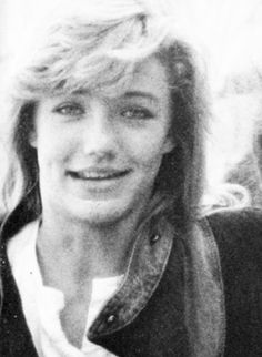 Cameron Diaz 1987 High School yearbook.