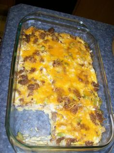 Sausage Breakfast Casserole--Leave off Potato for low carb