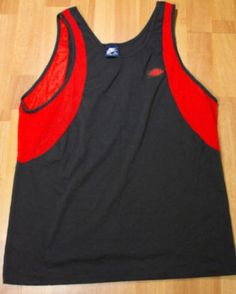 AJ 1 - Black colour range Mesh vest Blue tag 1985